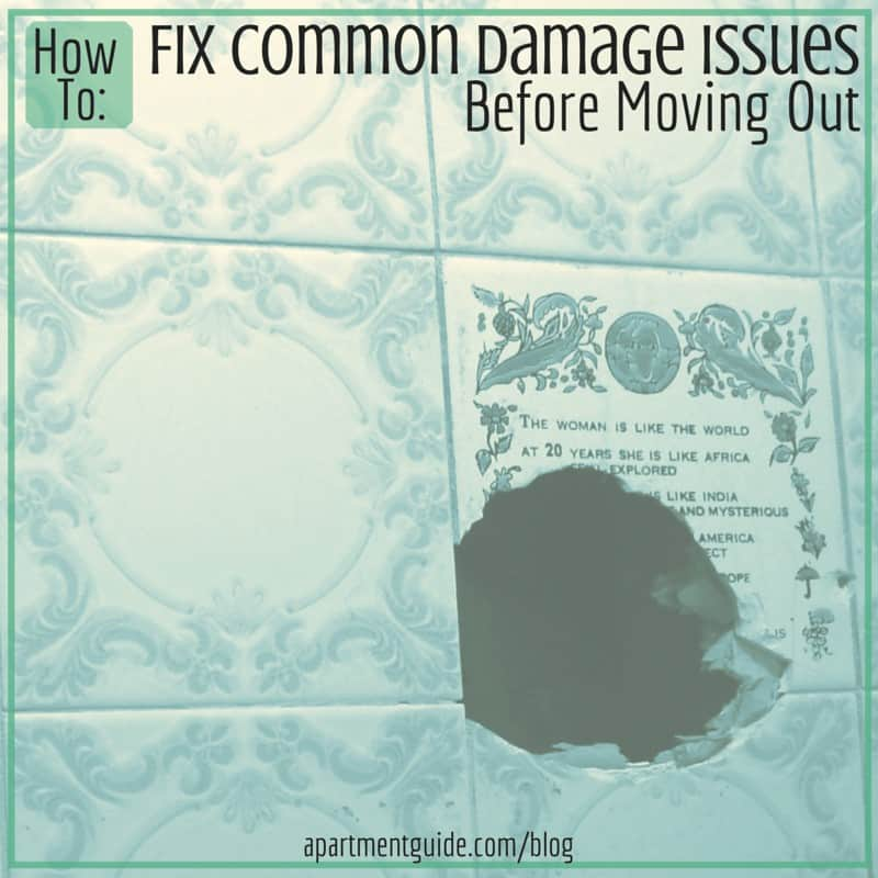 How to Fix Common Damage Issues Before Moving Out