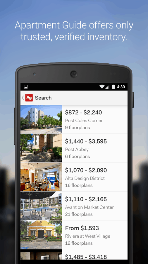 Introducing the New Apartment Guide App! A Seamless Search
