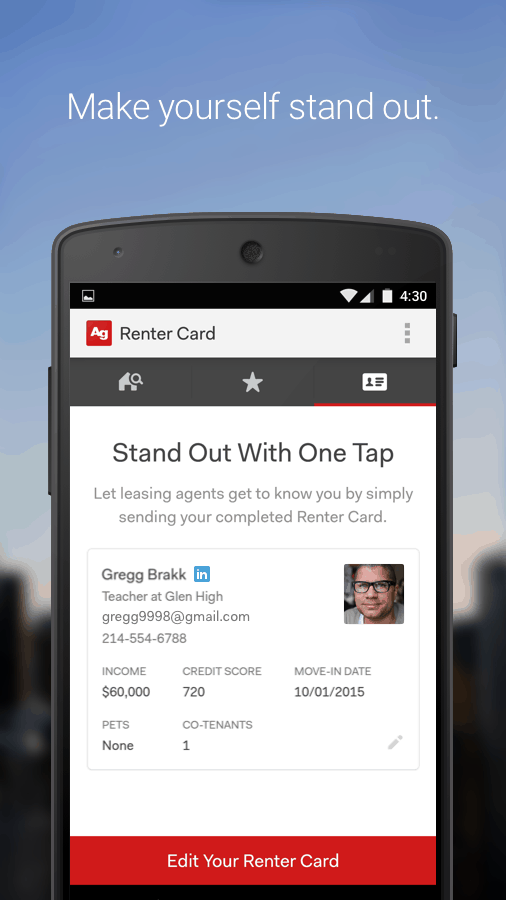 Introducing the New Apartment Guide App! Stand Out From the Crowd with a Renter Card