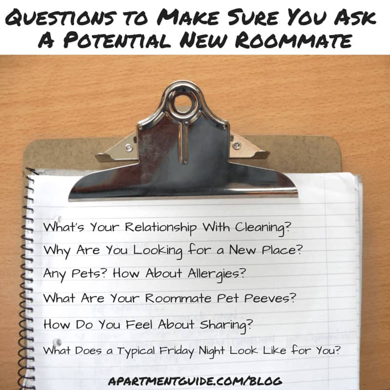 Looking For An Apartment: Questions To Ask When Looking For A Roommate
