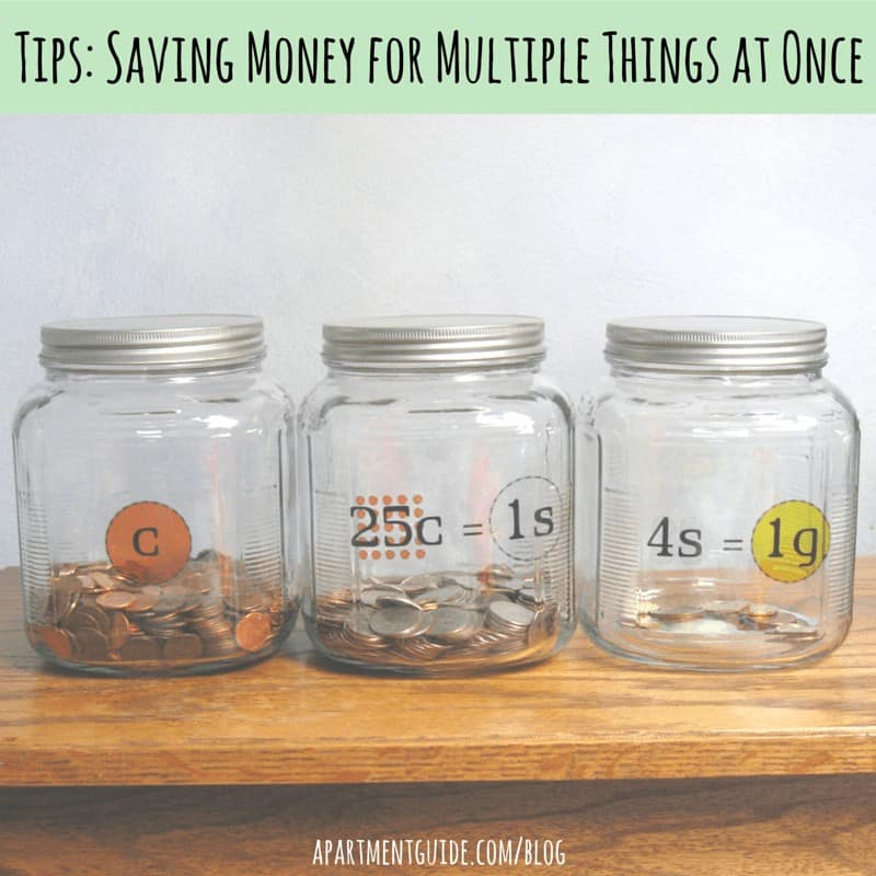 Tips on Saving Money for Multiple Things at One Time
