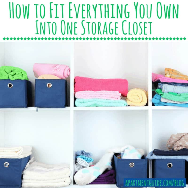 How to Fit Everything You Own Into One Storage Closet