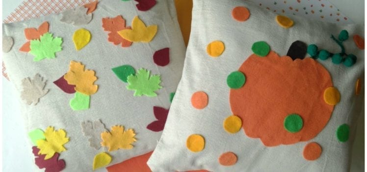 no sew pillows for fall