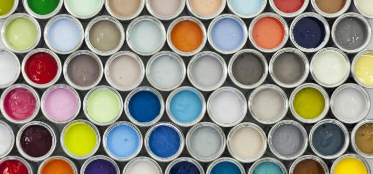 Paint Samples for a Home Color Scheme