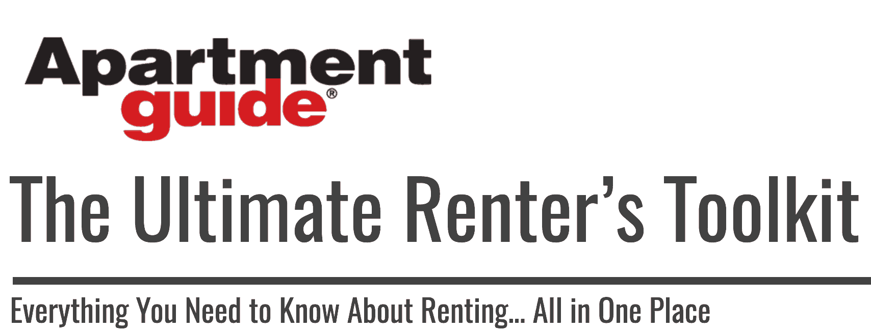 the ultimate renter's toolkit | apartmentguide