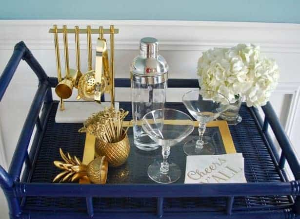 Perfect Home Bar Cart