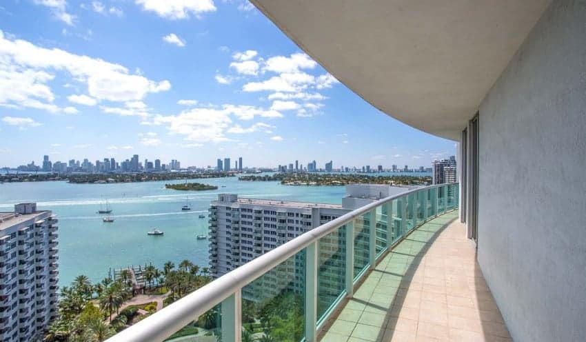Biscayne Bay Views From Flamingo South Beach Center Tower