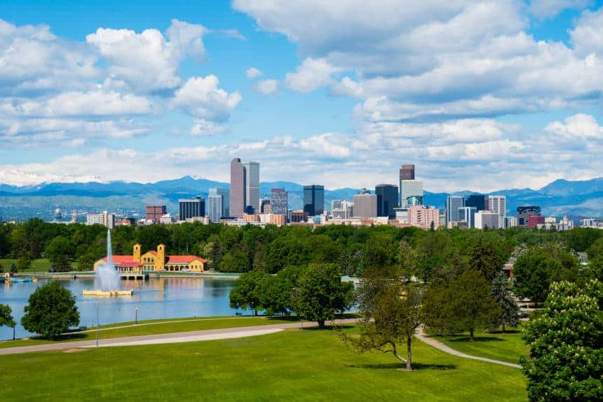 Denver's setting is awesome for cycling