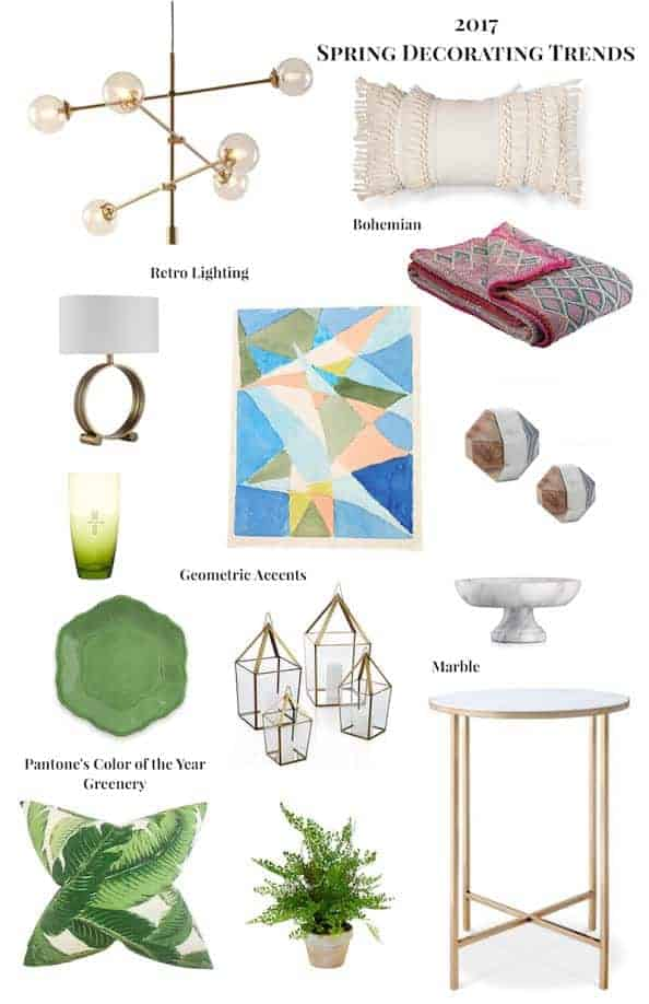 Decorating trends of spring 2017