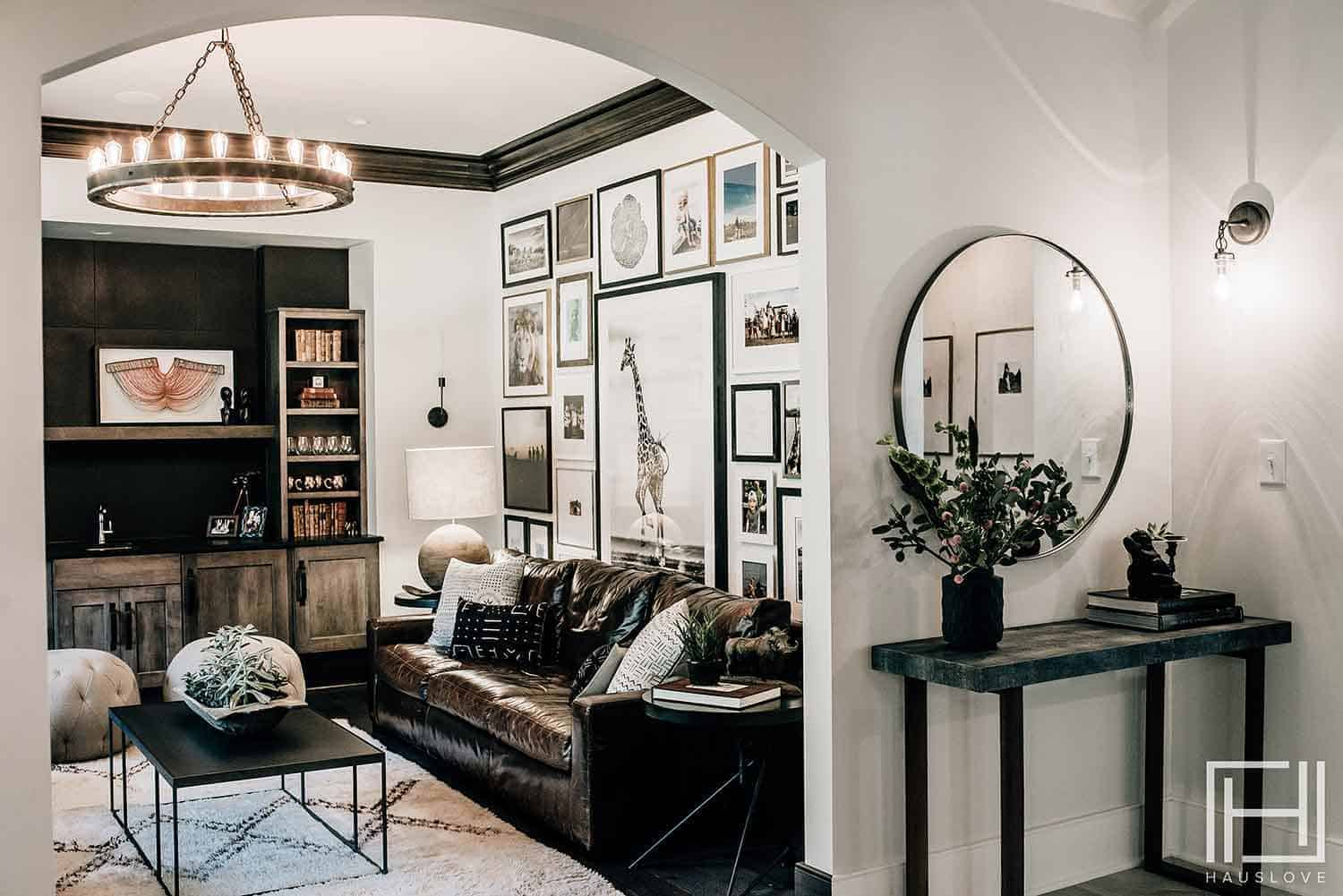 handsome room with gallery