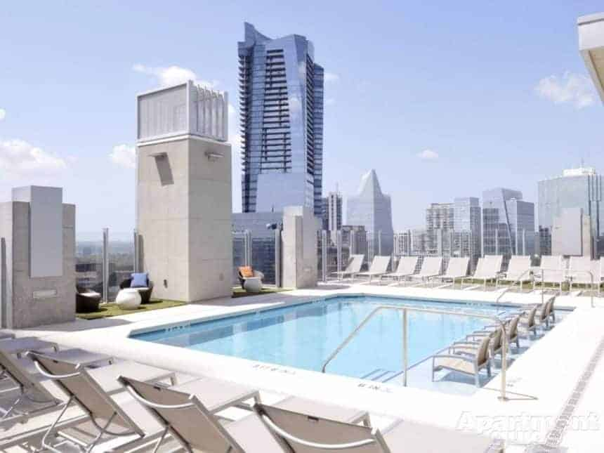 SkyHouse apartment pool in Buckhead
