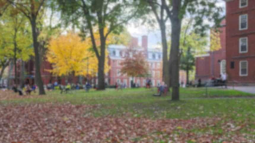 Harvard Yard near Boston