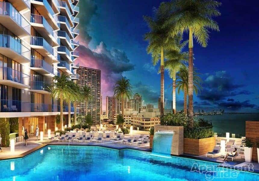 Miami apartment with luxury pool