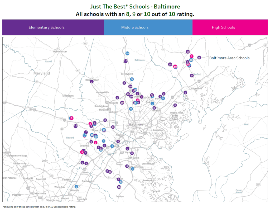Best Public Schools Baltimore
