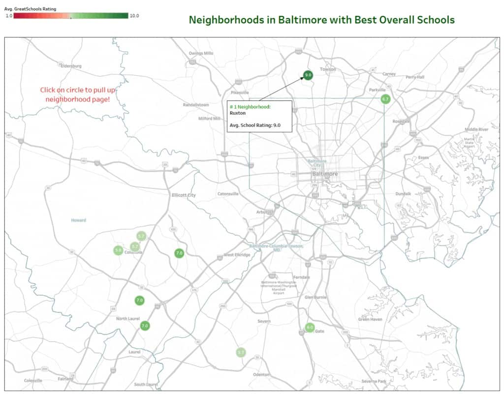Best neighborhoods public schools Baltimore