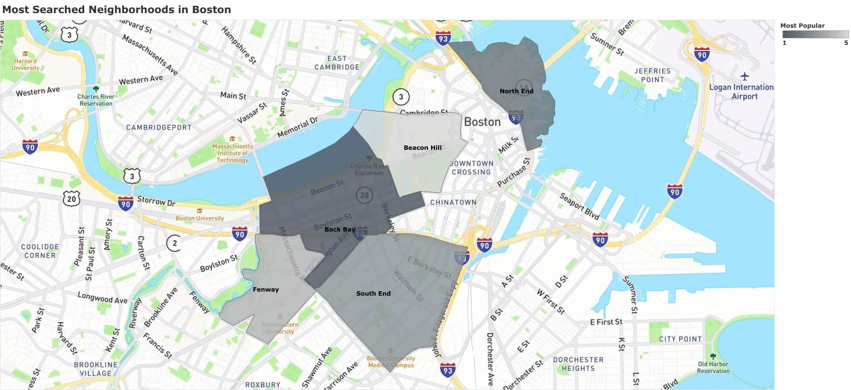 boston most searched neighborhoods