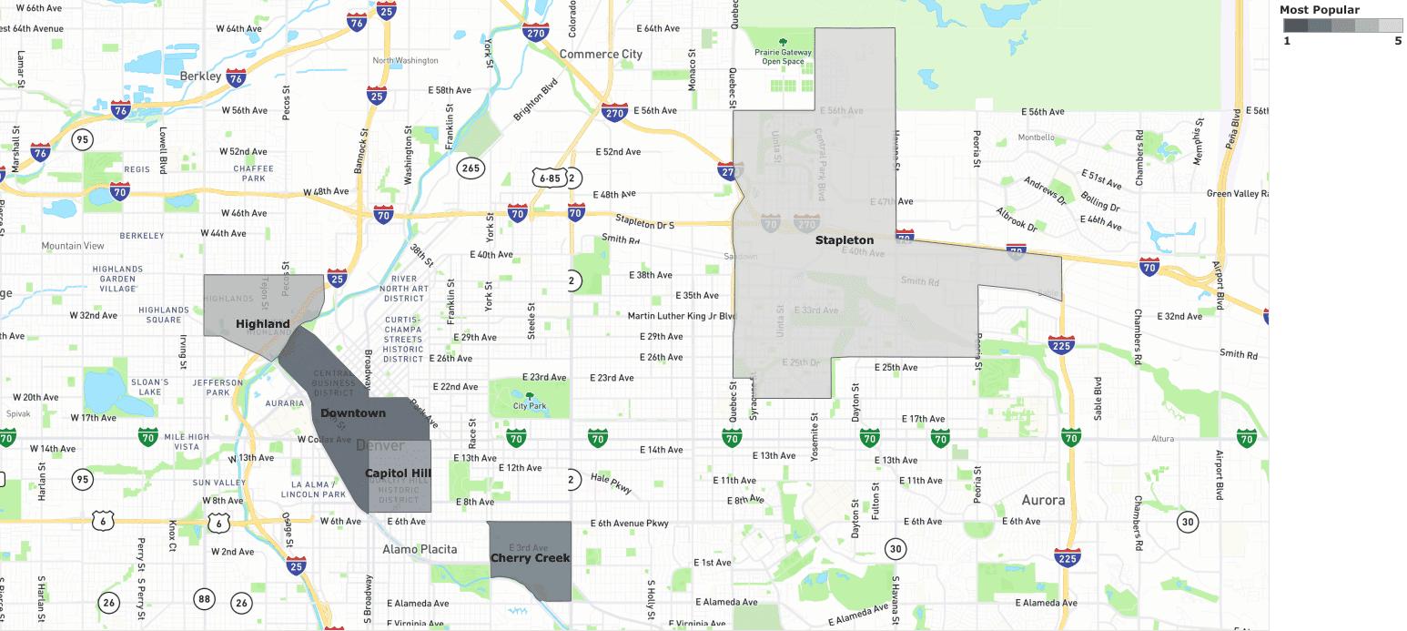 most popular denver neighborhoods