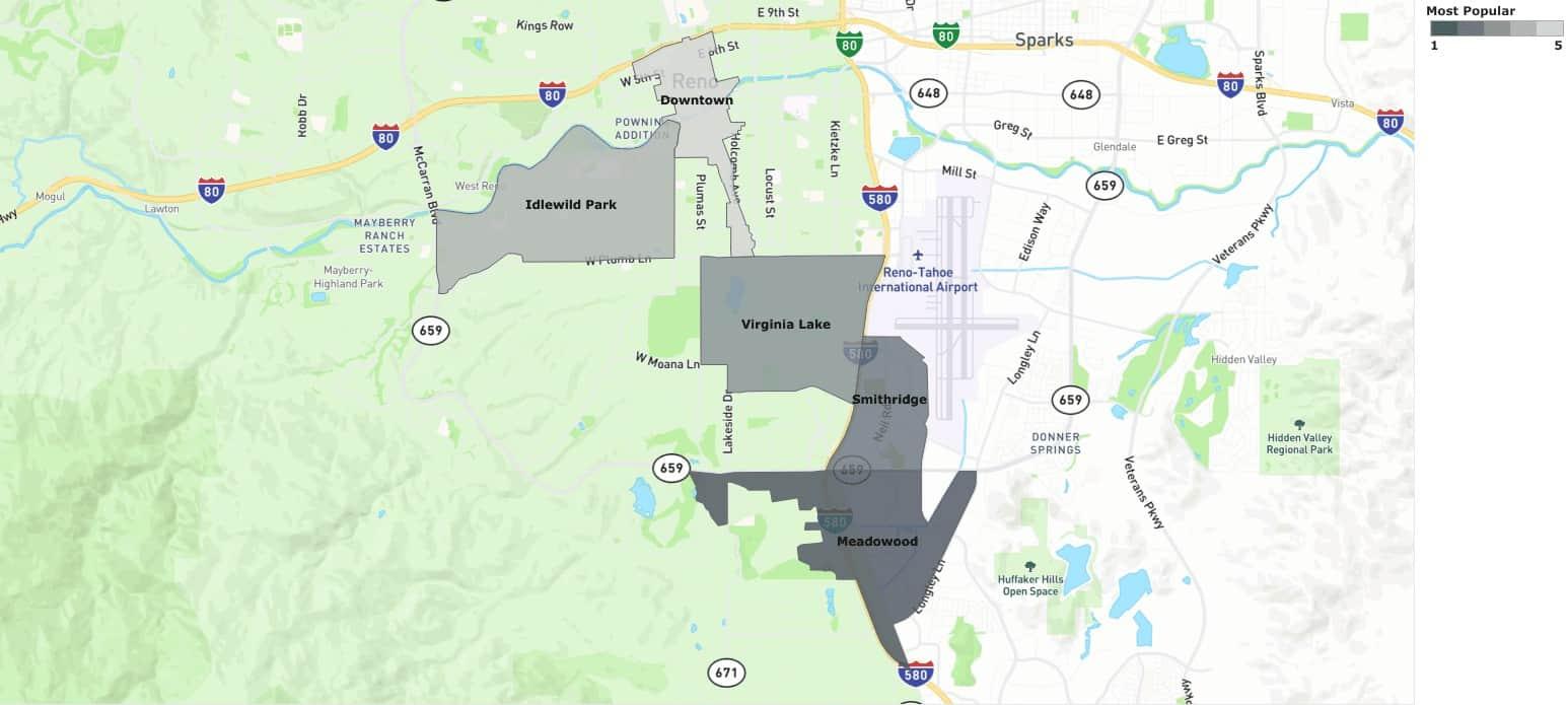 Reno most popular neighborhoods