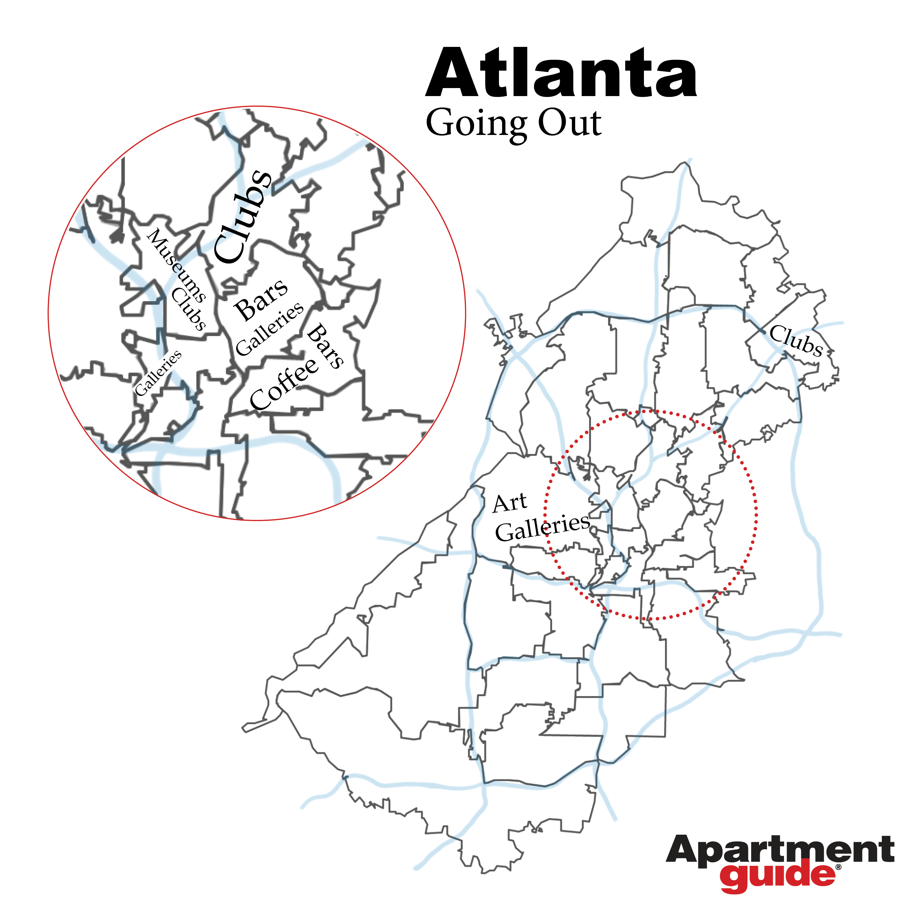 map of most popular social businesses in atlanta