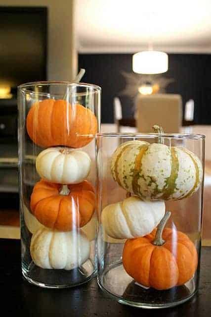 pumpkins in a jar