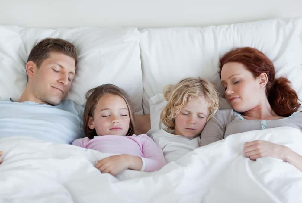family napping