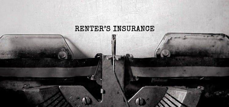 type writer renters insurance