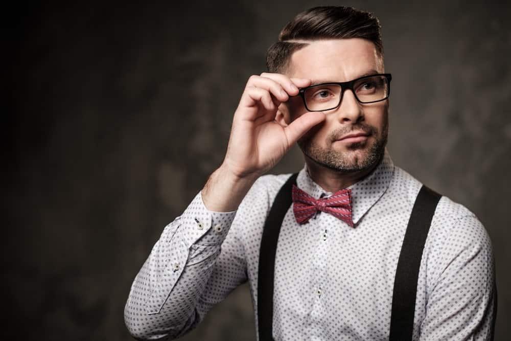 well groomed man in glasses