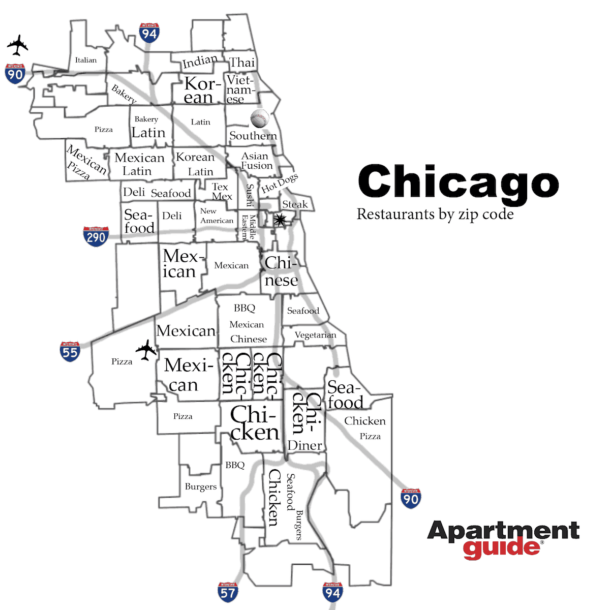 chicago restaurants by zip code