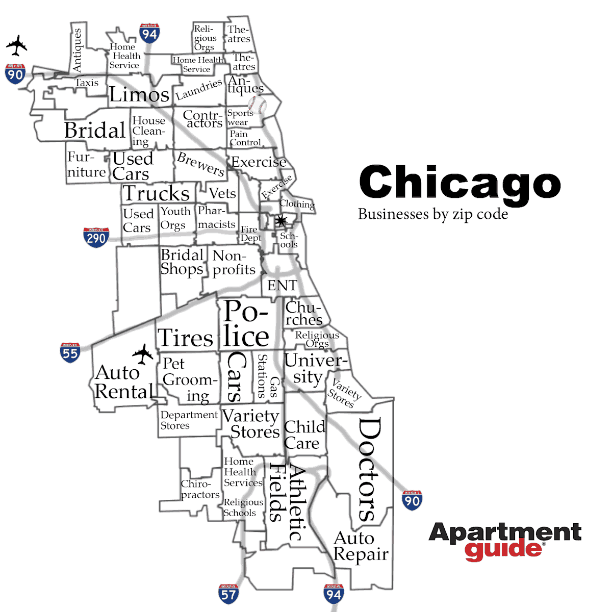 chicago businesses by zip code