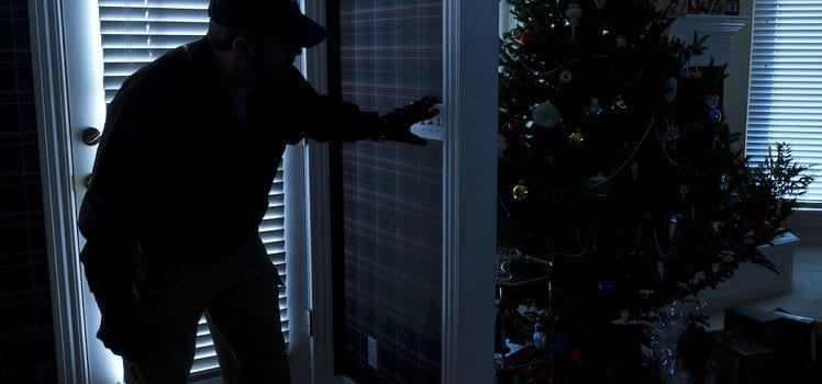 someone breaking in during christmas