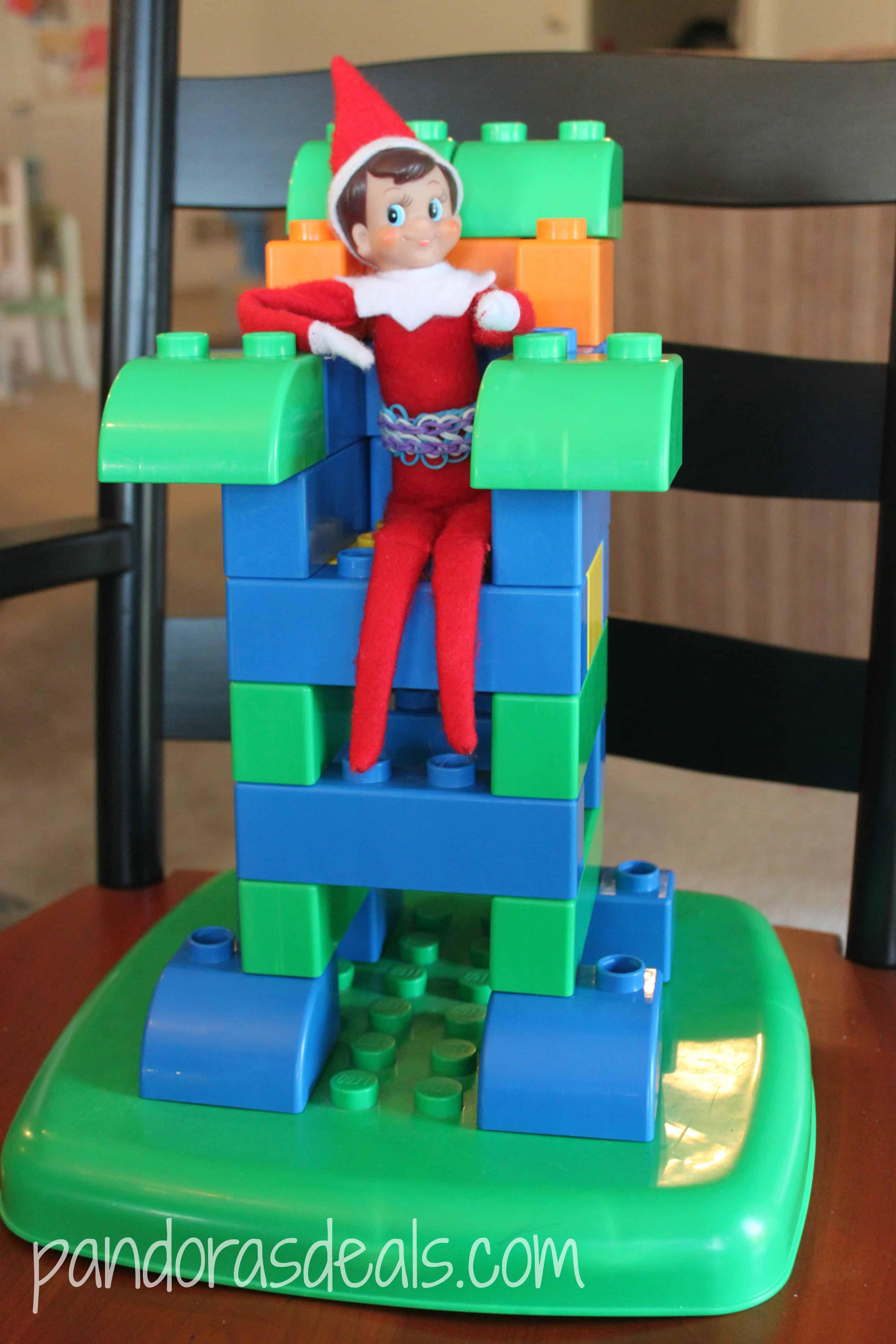 Elf sitting on Lego throne