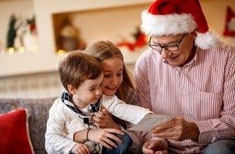 grandchildren visiting for christmas
