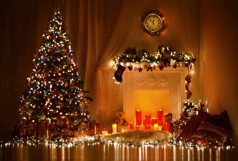 christmas lights in the dark
