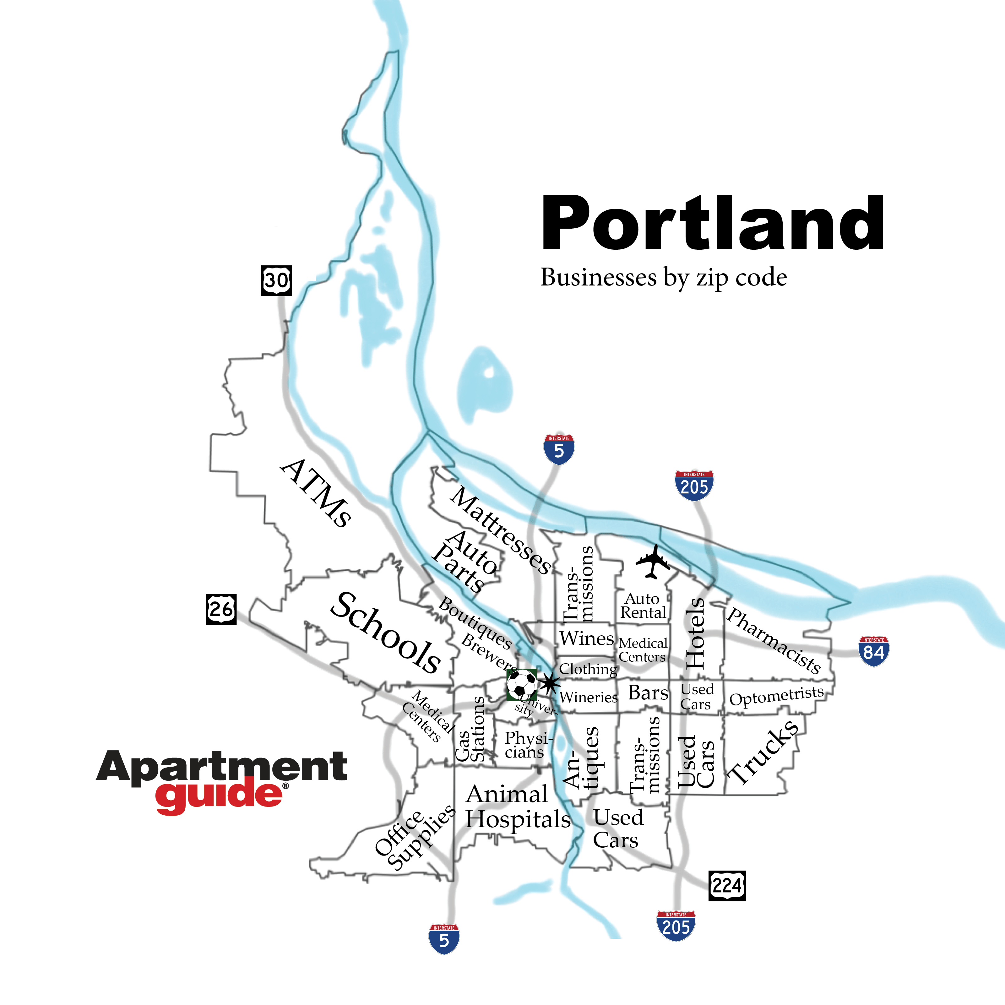 This Is How Portland Looks According To Most Popular Businesses