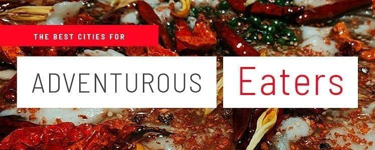 adventurous eaters cities graphic
