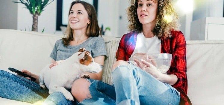 happy roommates and dog