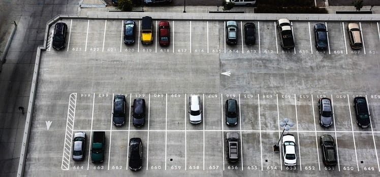 aerials of parking lot
