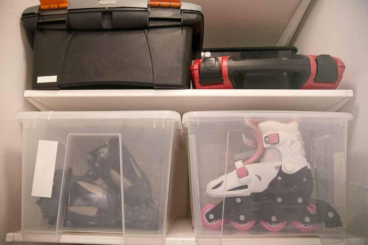 declutter storage space