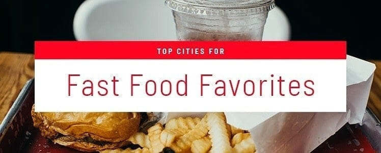 top cities for fast food