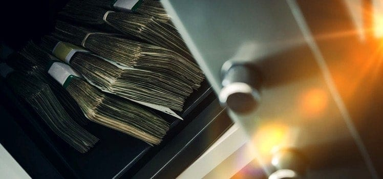 money in a safe