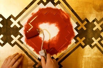 wall stencil paint