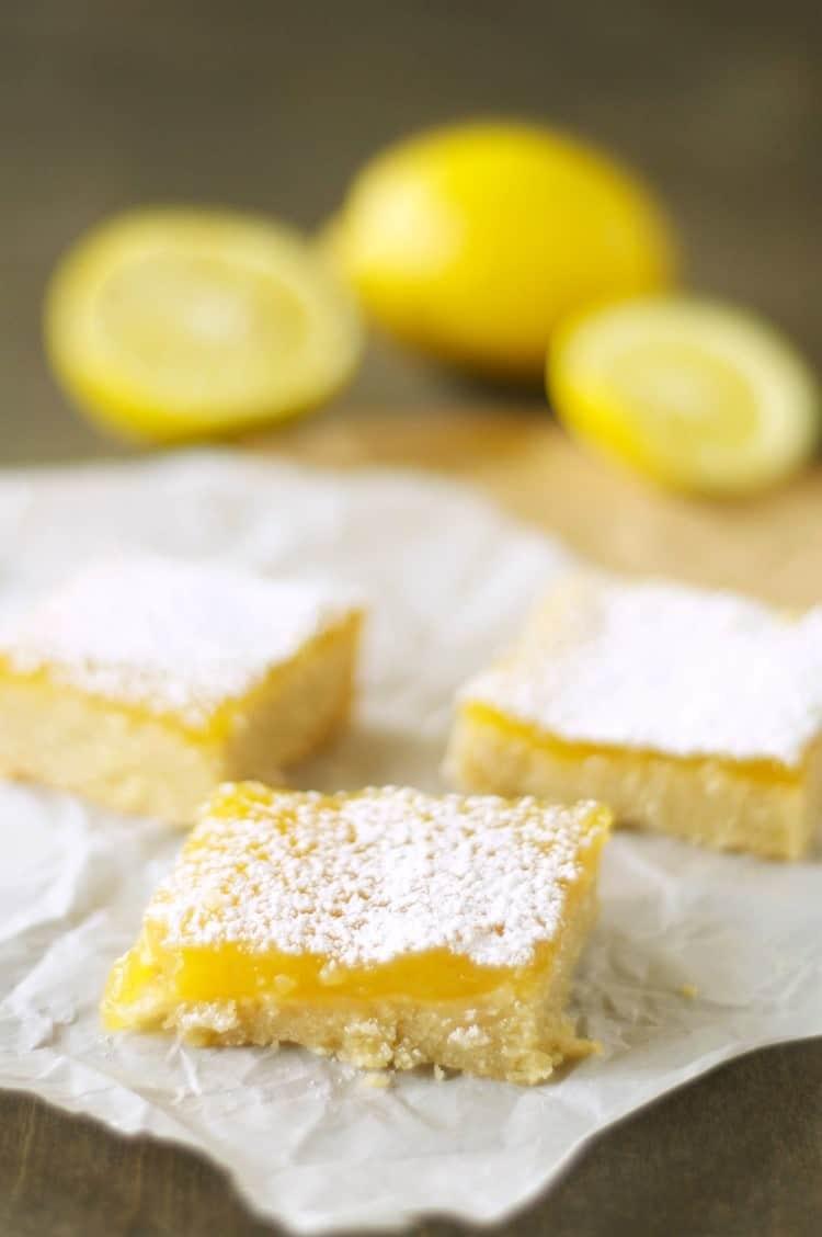 Lemon cookie bars