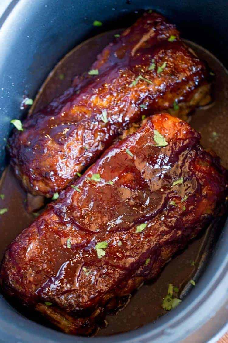 Dry rub slow-cooked ribs