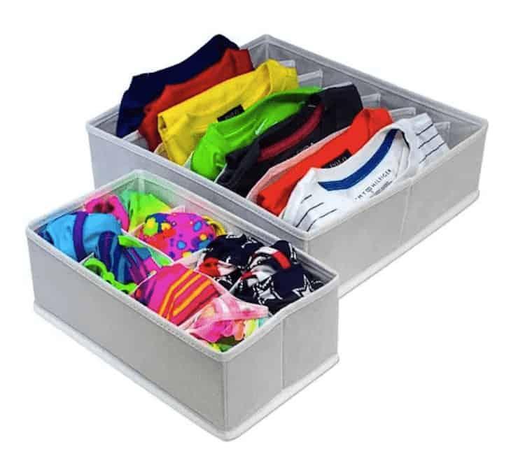 Clothing storage cubes