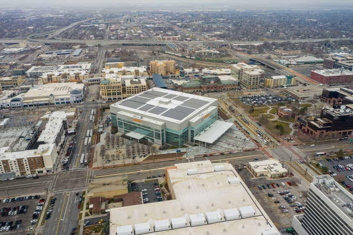 Utah Jazz arena aerials