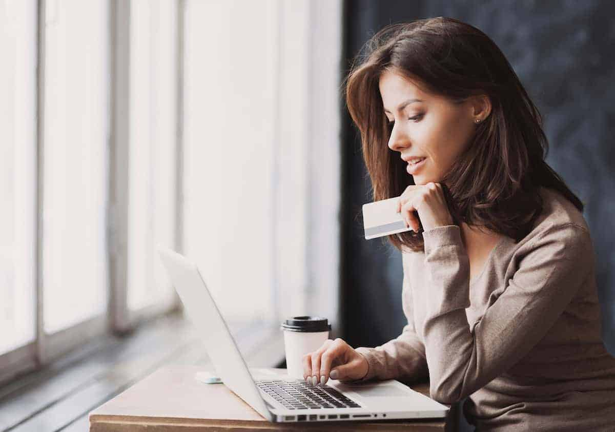 woman online shopping on her computer