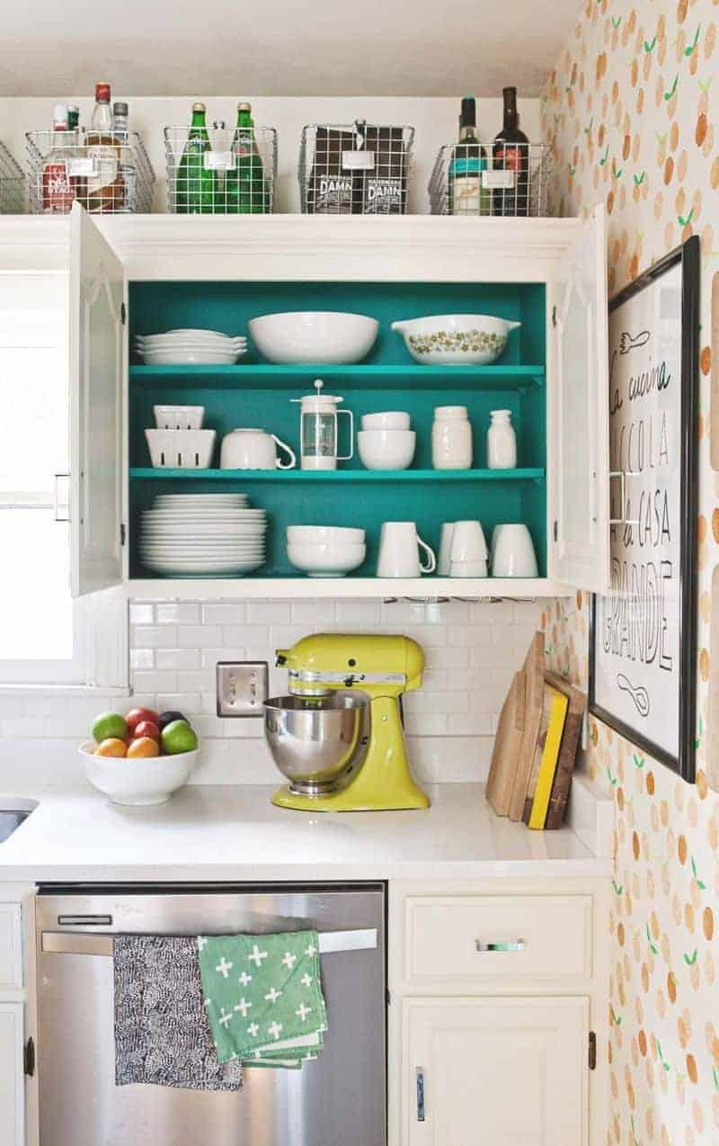 above cabinet storage