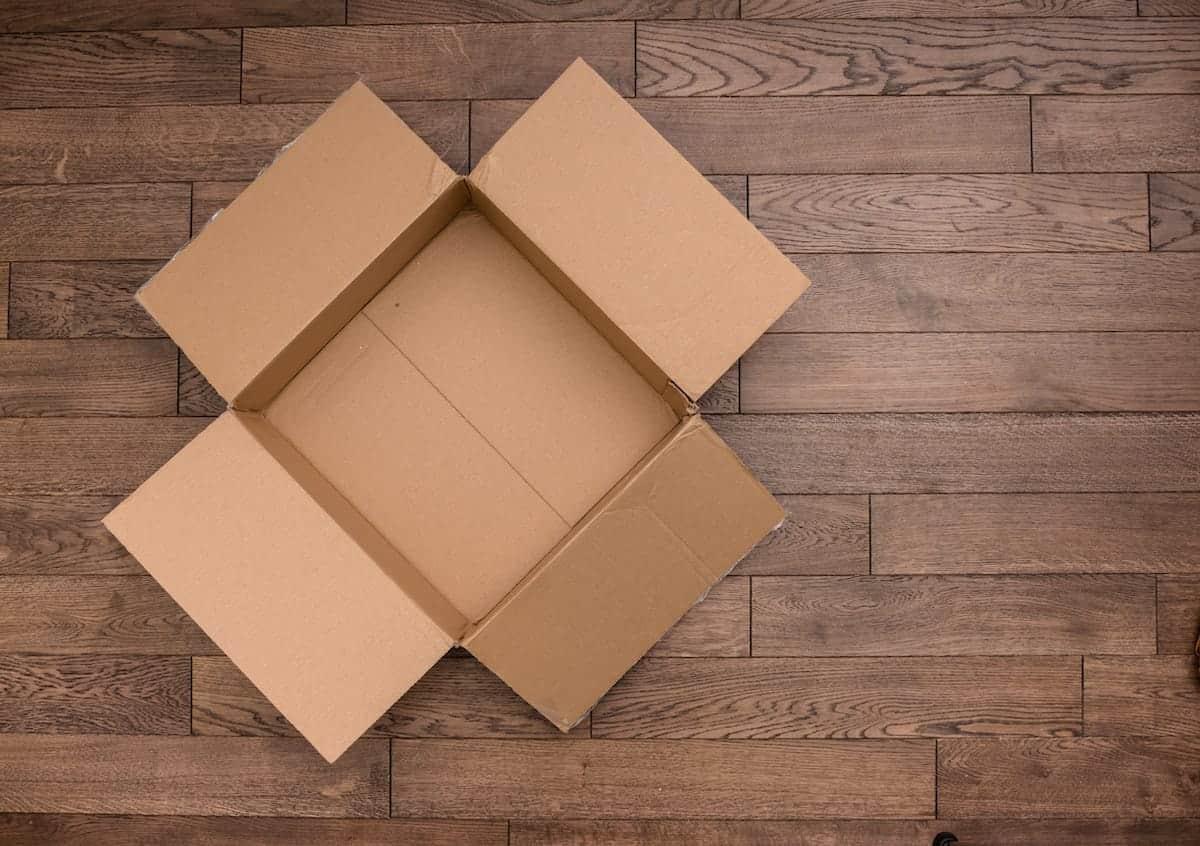 photo of an empty box