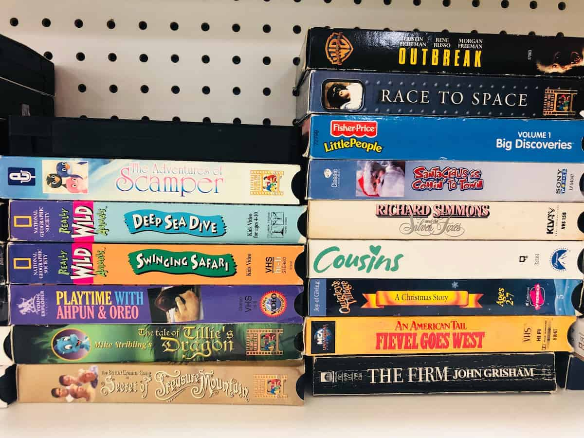 old vhs tapes