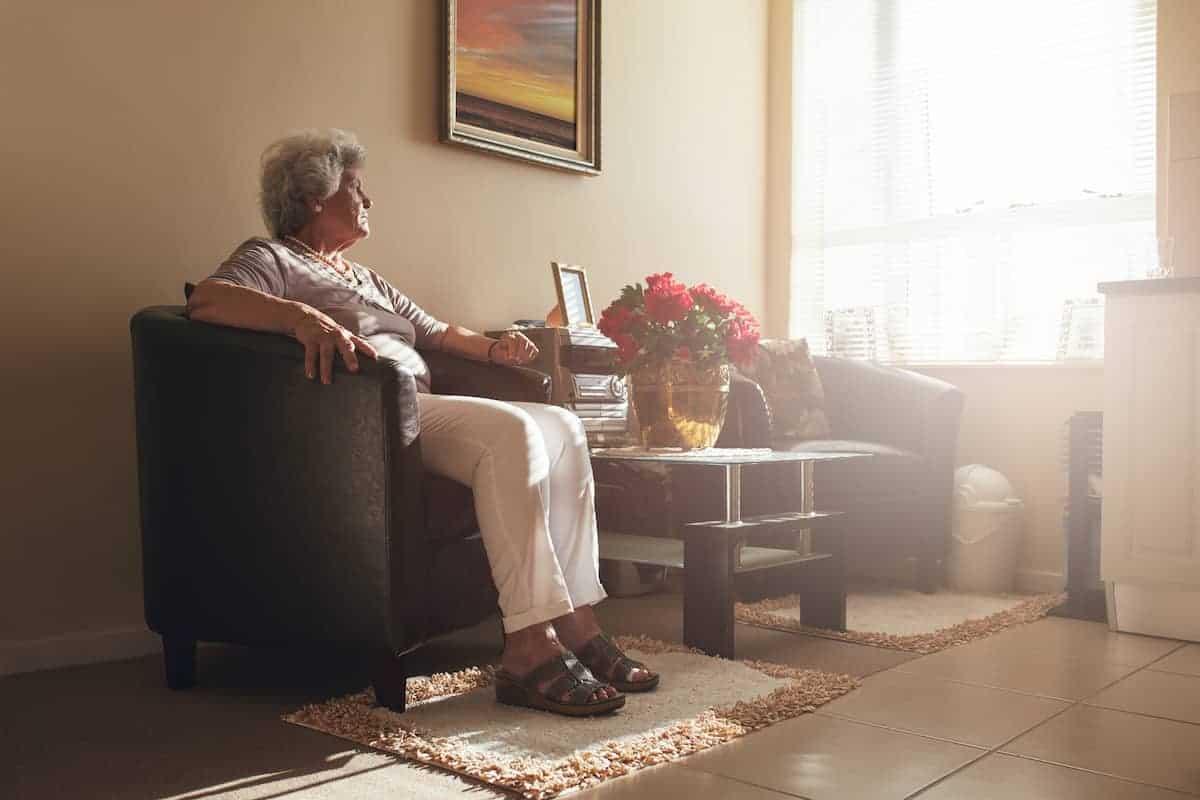 woman sitting a chair